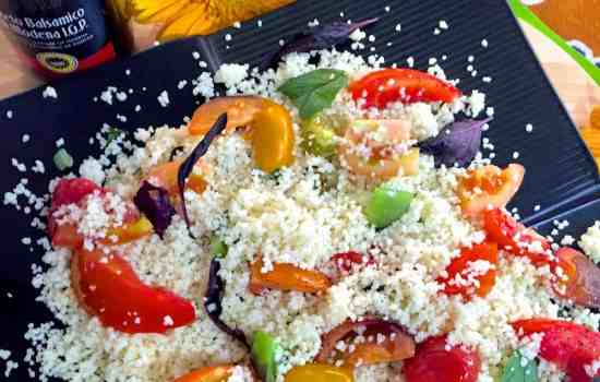Herby Roasted Tomato Couscous Salad