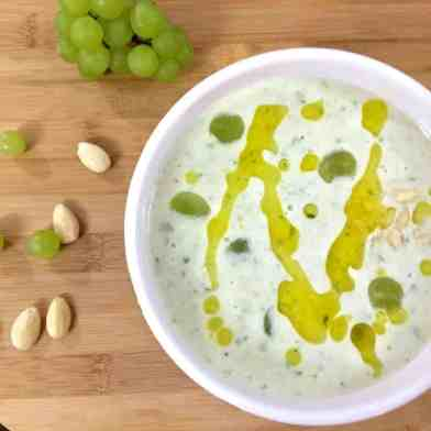 Ajo Blanco A chilled soup of white grapes and almonds
