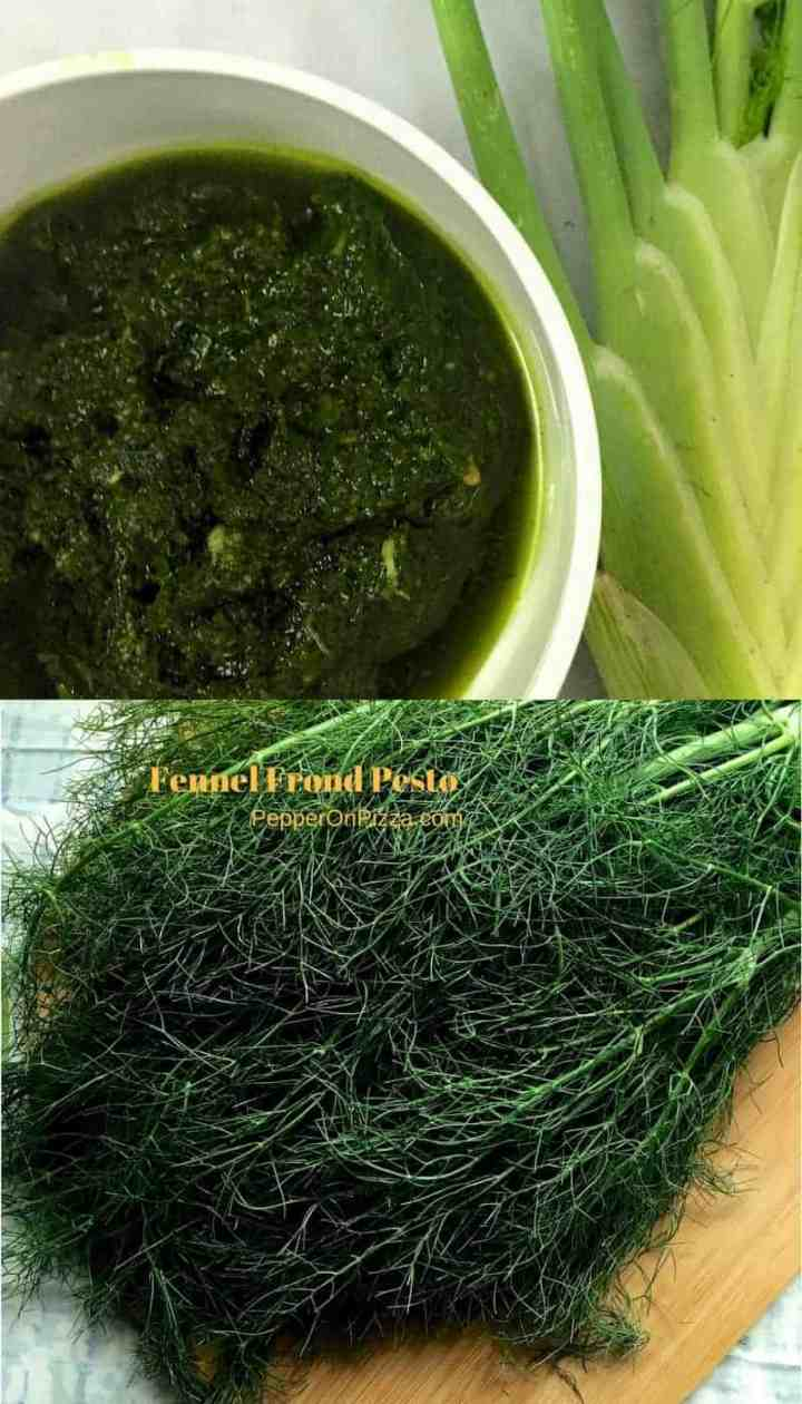 Healthy Easy Pesto of Fennel Fronds, Pine nuts and Homemade Basil Oil. An unusual and flavourful pesto, enhanced by the basil oil.