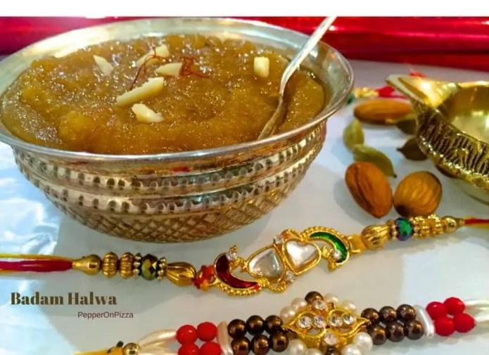 Saffron Badam halwa_PepperOnPizza.com