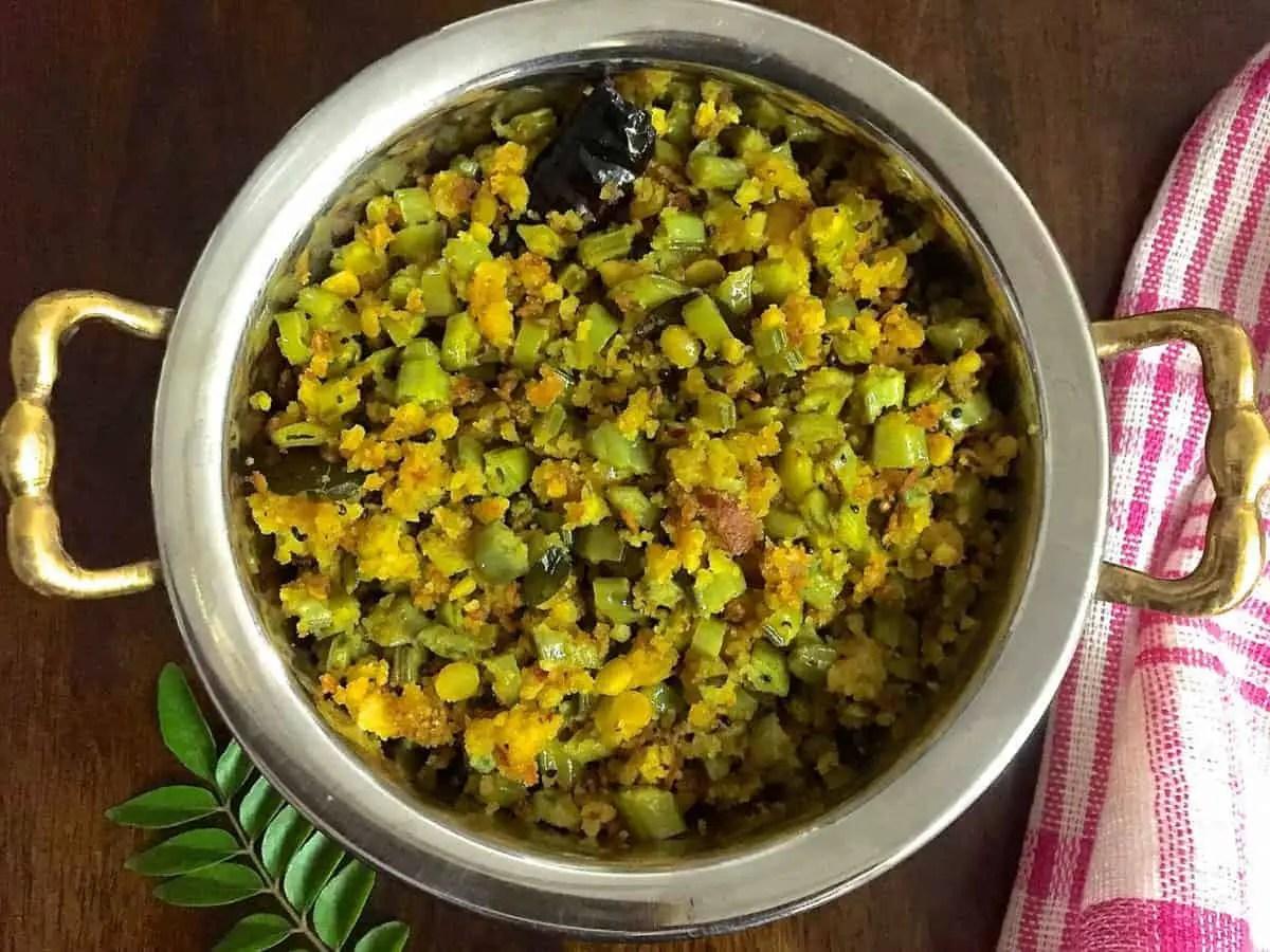 Kothavarangai Paruppu Usili - Cluster Beans Dhal Paste Curry
