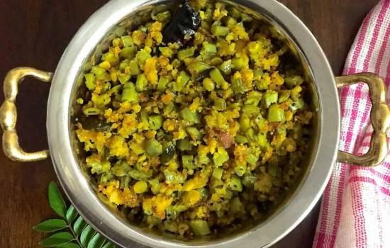 Kothavarangai Paruppu Usili – Cluster Beans Dhal Paste Curry