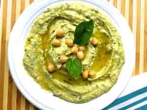 Lemon Basil Mint Hummus