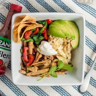 Vegetarian Chicken Bowl Recipe | Gardein Chick'n, Eggs, Veggies, Avocado