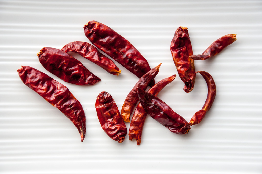 basic indian spices - dried red chilies