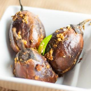 Stuffed Baby Eggplants | Veggie Mince Bharwan Baingan Recipe