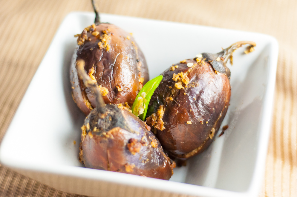Stuffed Baby Eggplants - Served