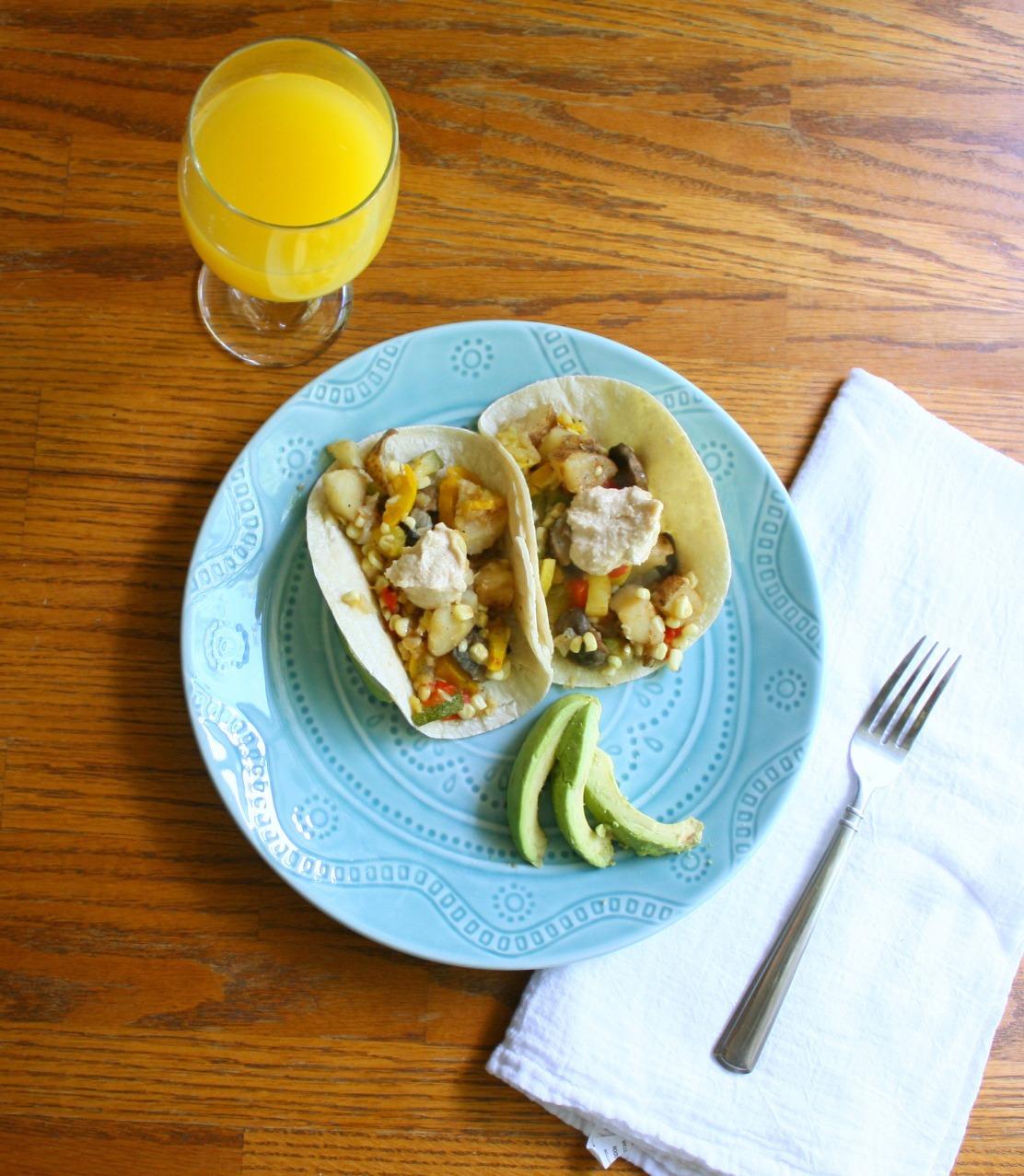 Sweet Potato Breakfast Tacos: Veggie And Potato Breakfast Tacos