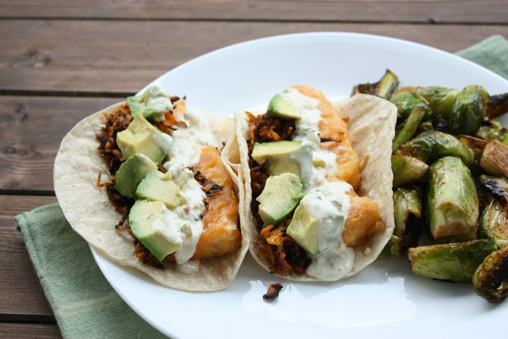 Hearty Loaded Fish-less Tacos