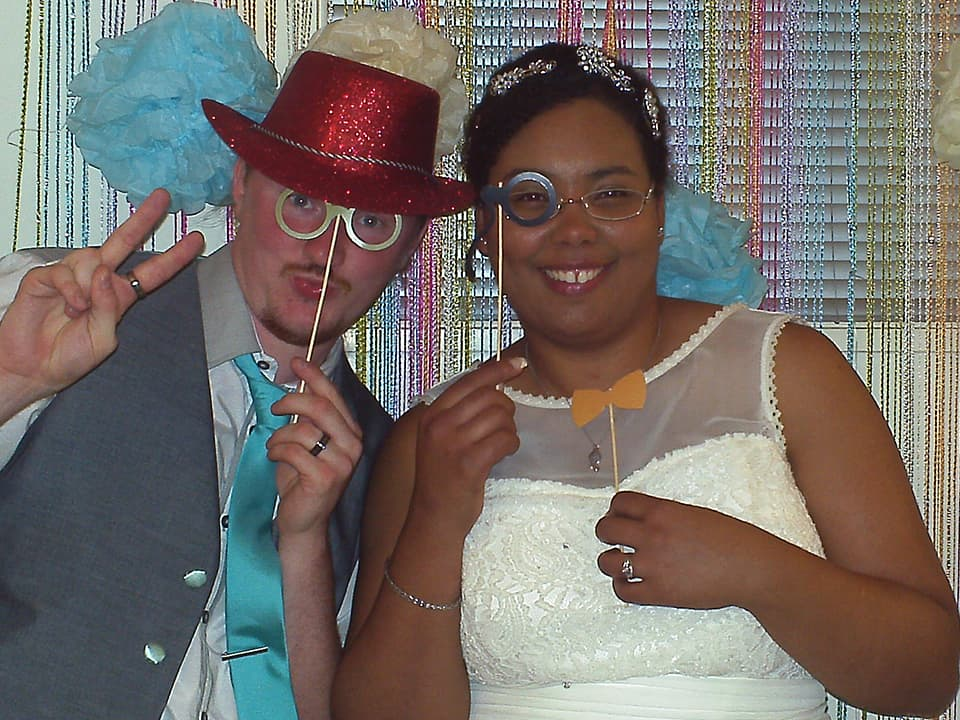 Our wedding and the photo-booth and props