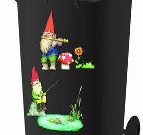 Wheelie Bin Stickers – Gnomes – FREE POSTAGE