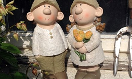 Bill and Beryl Elves standing rose, Garden Ornament, Gnome, Garden Fairy, Troll, Imp Rose