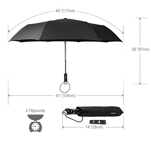 ezgoo 2002 nissan frontier audio wiring diagram compact travel umbrella w windproof reinforced canopy auto open close slip proof handle black