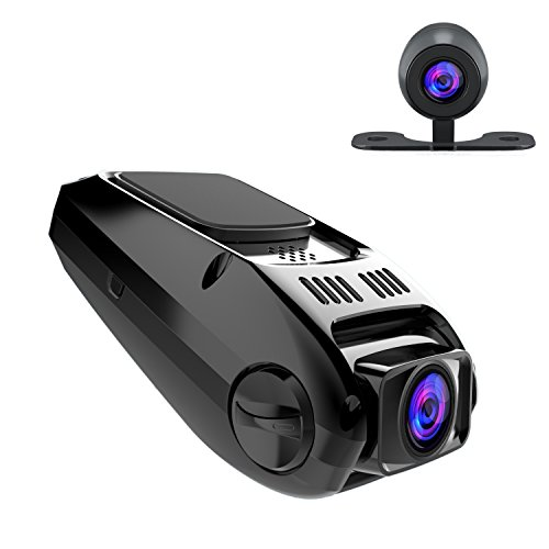 APEMAN In Car Dash Cam 1080P Full HD Dashboard Camera DVR 170° Wide Angle Lens Dashcam with Rear Camera G-Sensor Car Blackbox Car Digital Driving Recorder