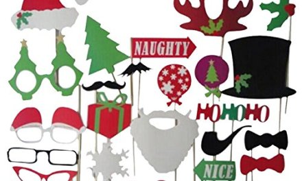 27pcs Christmas Santa Hat Party Masks Photo Booth Props Mustache On A Stick