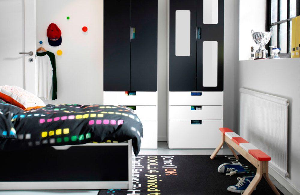 Dormitorio juvenil decorado en blanco y negro  Imgenes y fotos