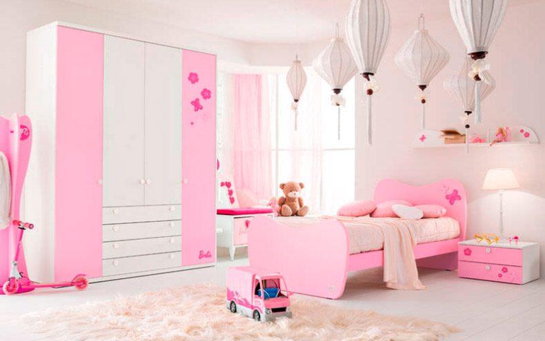 Dormitorio para nias en rosa y blanco  Imgenes y fotos