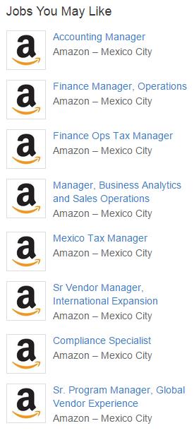trabajos en amazon en México