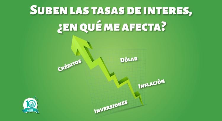 ¿ Cómo afecta la subida de tasas de interés a mis finanzas?