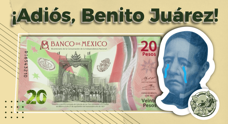 Nuevo billete de 20 pesos