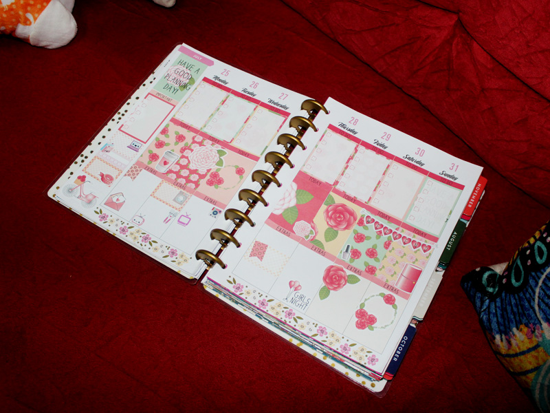 Adesivos da Keep Planning, usados no Happy Planner.