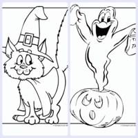 Dibujos de Halloween para colorear e imprimir gratis ...