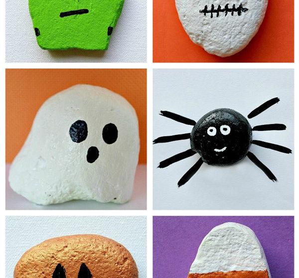 Manualidades De Halloween Para Nios Pintar Piedras
