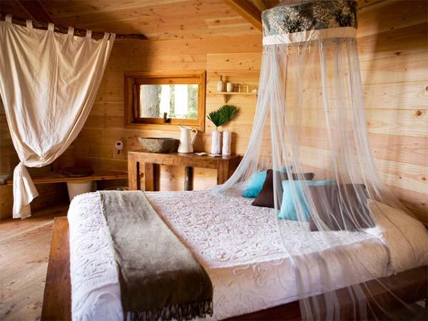 Cabanes als arbres dormir en una cabaa en Espaa  Pequeocio
