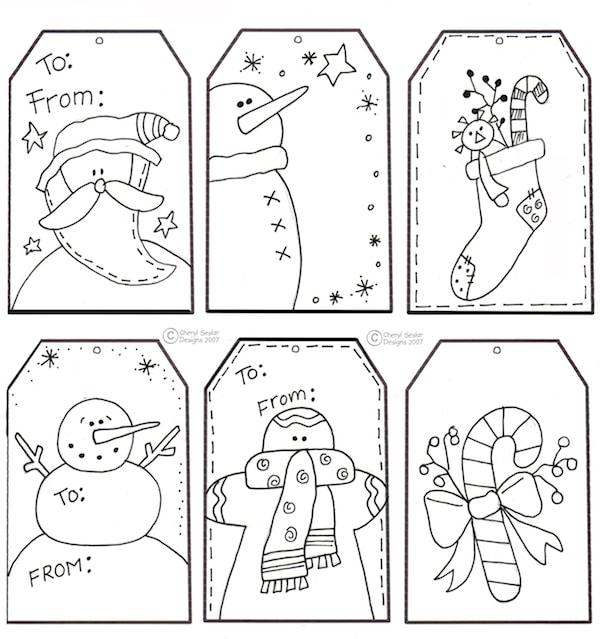 5 etiquetas navideñas de regalo ¡para imprimir gratis
