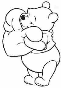 De Winnie Pooh de amor para colorear - Imagui