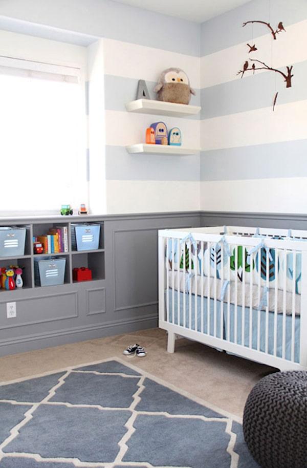 5 habitaciones de beb decoradas a rayas  Pequeociocom