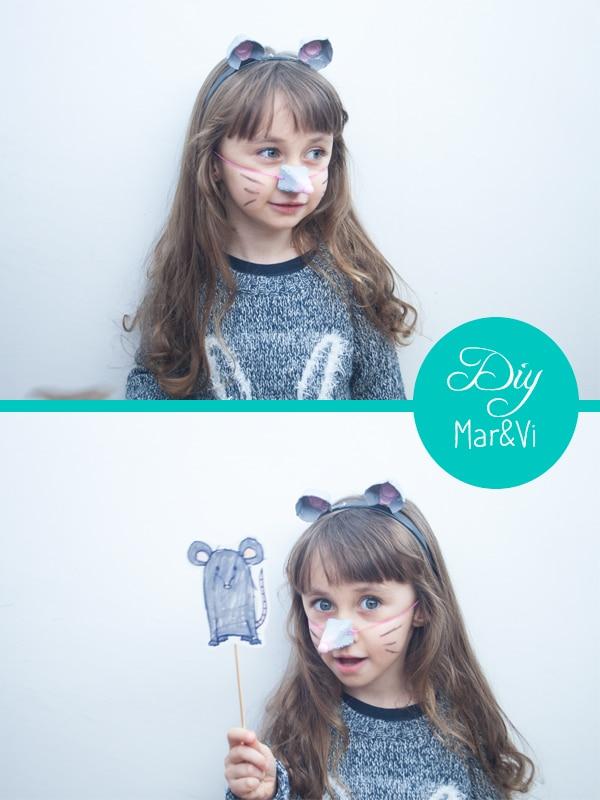 disfraz casero de raton