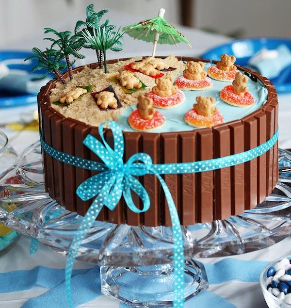 tartas faciles de cumpleaños verano