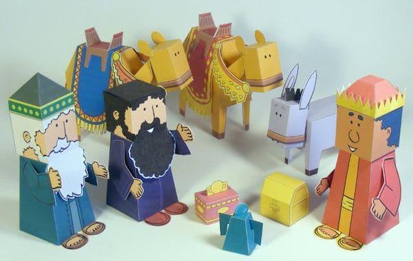 Resultado de imagen para reyes magos hechos con carton