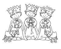 10 dibujos de los Reyes Magos para colorear gratis ...