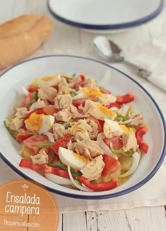 Ensalada campera una saludable receta de verano