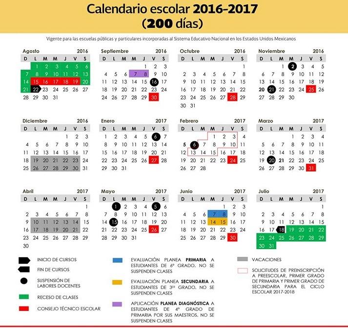 Resultado de imagen para calendario escolar 2017-2018