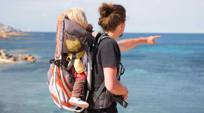 a que sitios viajar con un bebé