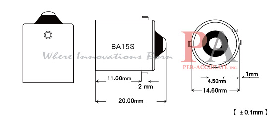 4 x T10 Wedge/ Ba15s 1156 BULB socket base Convert
