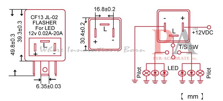 FLCF13_SPEC?resize\\\\\\\=665%2C303 flasher wiring diagram 12v three prong flasher wiring \u2022 free signal flasher wiring diagram at bayanpartner.co