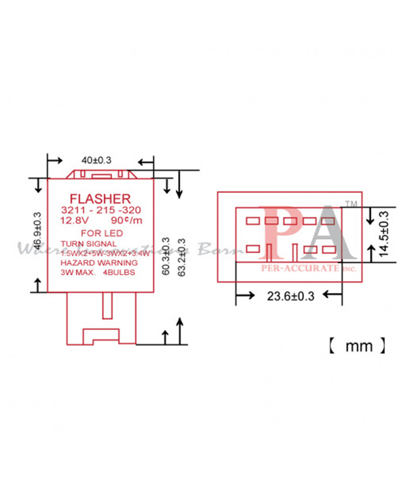 medium resolution of 12vdc relay diagram hazard flasher 2 prong