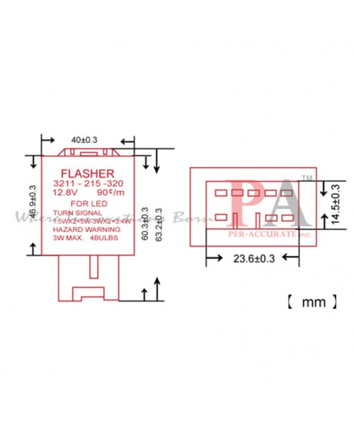 small resolution of 12vdc relay diagram hazard flasher 2 prong