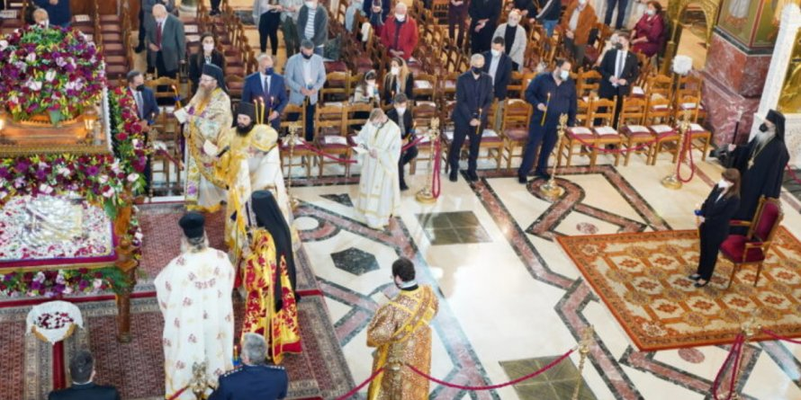 Παρουσία της ΠτΔ η Ακολουθία του Επιταφίου Θρήνου στην Ι.Μητρόπολη Πειραιώς.
