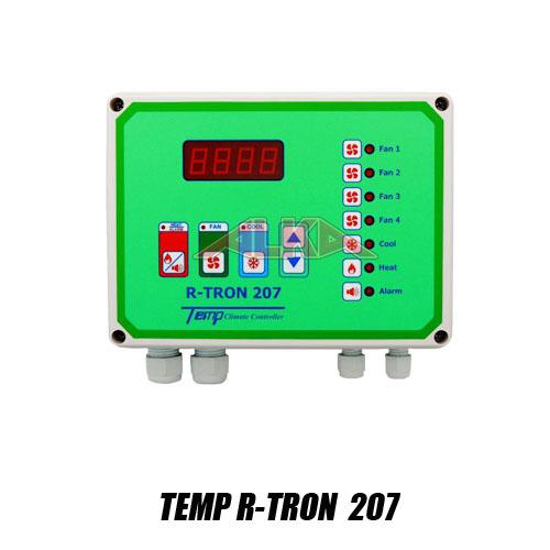 Temp R-tron 207, R-tron 207, alat pengontrol iklim, alat pengontrol suhu, alat pengontrol kelembaban, alat pengatru kipas blower