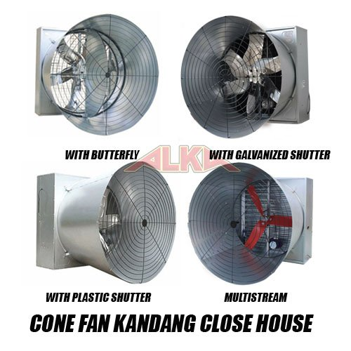 cone fan kandang ayam, cone fan murah, cone fan 50 inch with butterfly, cone fan 50 inch with plastic shutter, cone fan 50 inch with galvanized shutter, cone fan 50 inch multistream, jual cone fan murah kandang ayam