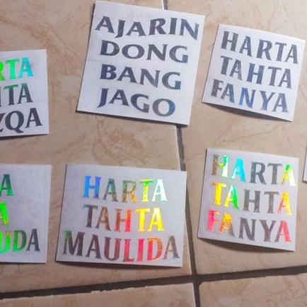 Tempat bikin stiker oracal online 24 jam Jakarta