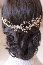 gold bridal hair pieces percy