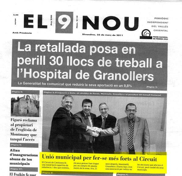 Montmeló, Parets i Granollers s'uneixen per influir en l'àmbit territorial del Circuit