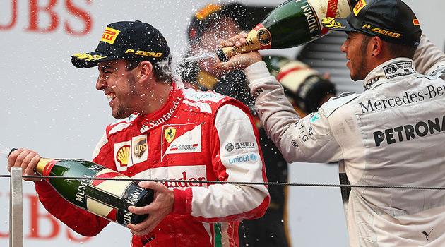 Fernando Alonso y su Ferrari triunfaron en el GP de China