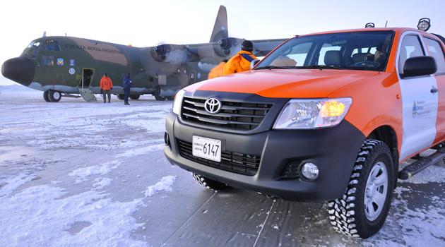 Toyota Hilux en la Antartida